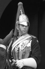 Glaring Royal Horse Guardsman