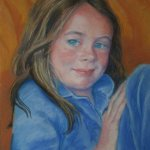 Girl In Blue Pyjamas