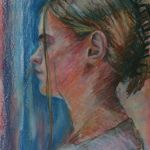 'Judith' - pastel portrait from life.