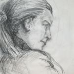 'Portrait Of Amy' pencil sketch
