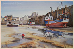 """Ilfracombe Harbour 14""""x22"""""""