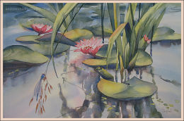 """Water lilies 14""""x22"""""""