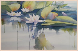 """Lilies 14""""x21"""""""