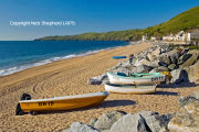 Boats on Beesands Beach