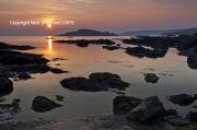 Sunset burgh Island