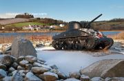 Sherman Tank with snow