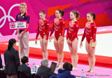 08 Floor Exercise, (L to R) Tunney, Tweddle, Pinches & Whelan