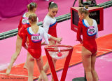14 Russian Team Preparing for the Vault