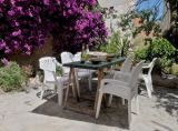 in the shady and cool courtyard we have our Spanish breakfasts and dinners
