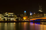 London on the River Thames at night