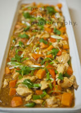 CHICKEN DOPIAZA WITH SWEET POTATO AND CORIANDER