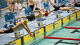 FREEZE ACTION SHOT FROM SWIM MEET