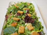 HERB SALAD WITH TOMATO CROUTONS