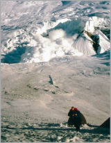Running from an Avalanche and taking pics- Not recommended. Karakoram