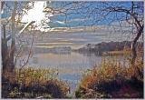 Autumn afternoon at Gartmorn Dam near Alloa