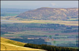 RSPB Vane Farm from the Ochils - Bass rock in the background
