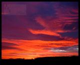 Dawn Swan cloud over Knock hill