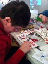 Book making project at Henshaws Arts & Crafts Centre