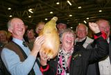 Winner of biggest onion at Harrogate Autumn Flower Show