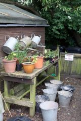 By the potting shed