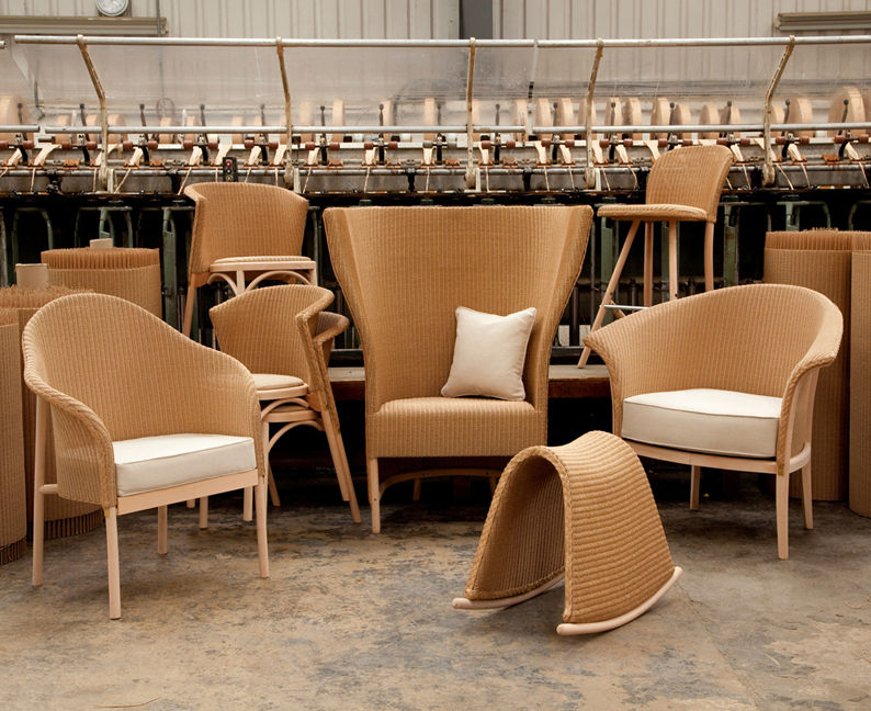 Bodging milano the lloyd loom elves for H furniture collection loom