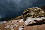 Eype beach storm