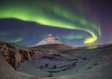 Northern Lights above the Kirkjufell Volcano