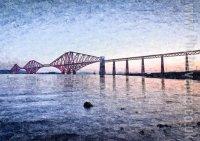 Forth Rail Bridge at Dawn