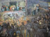 Bikers party 450mmx250mm oil on canvas