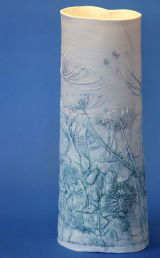 Drawn cowparsley & hedgerow vessel