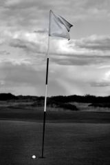 Almost, St. Andrews (black and white)