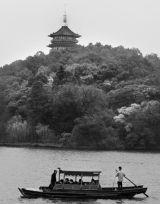 West Lake Afternoon, B&W, Hangzhou, China