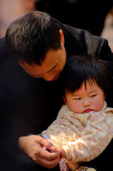 Father and Child, Shanghai, China