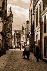 St. Andrews Street Scene, Sepia, Scotland