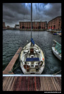 Boat on the Albert Dock Liverpool
