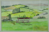 Pyrenees with Bench