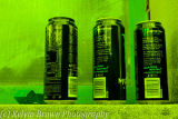 Three cans left on the wall