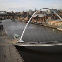 Millenium Bridge and Quayside