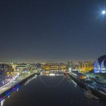 Full Moon over Newcastle Quayside