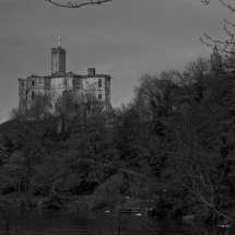 Warkworth Castle (Black and White)